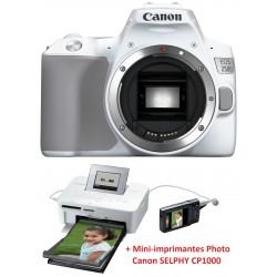 Appareil Photo Reflex Numérique Canon EOS 250D / 4K / 18-55mm IS + Mini-imprimantes Photo Canon SELPHY