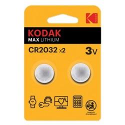 2x Piles Bouton 3V Kodak Ultra Lithium CR2032