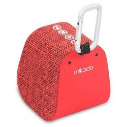 Haut Parleur de poche Bluetooth Mikado Freely K6 / 5W / Rouge