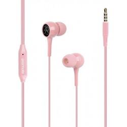 Écouteurs stéréo avec micro Promate Bent / Rose