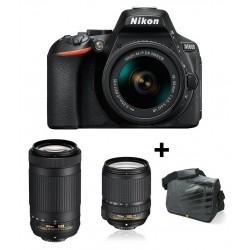 Réflex Numérique Nikon D5600 + Objectif Nikkor 18-140mm + AF-P DX NIKKOR 70-300mm + Sacoche