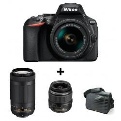 Réflex Numérique Nikon D5600 + Objectif Nikkor 18-55mm + AF-P DX NIKKOR 70-300mm + Sacoche