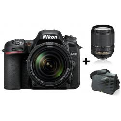 Réflex Numérique Nikon D7500 + Objectif Nikkor 18-140mm + Sacoche