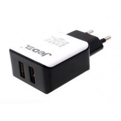 Chargeur Jedel 2 ports USB avec câble 2.4A
