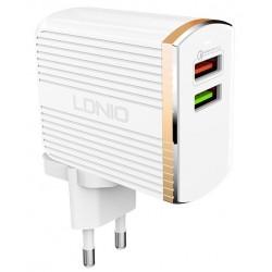 Chargeur secteur LDNIO A2502Q 2x USB 2.4A / Blanc
