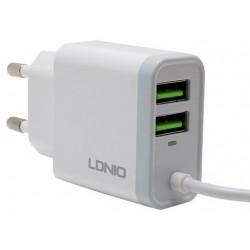 Chargeur secteur LDNIO A321 2x USB 3.1A Type-C / Blanc