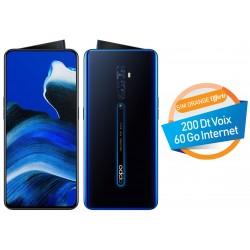 Téléphone Portable Oppo Reno2 / 4G / Double SIM / Noir + SIM Orange Offerte 60 Go + Abonnement IPTV