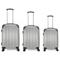 Set de 3 valises à roulettes BENZI BZ-5179 / Silver