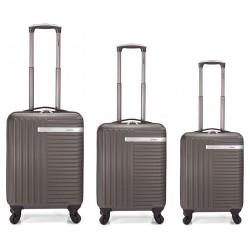 Set de 3 valises à roulettes BENZI BZ-5161 / Gris