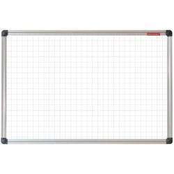 Tableau Blanc magnétique à carreaux 180 x 100