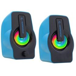 Haut Parleur USB Rampage 2.0 RMS-G7 / 6W / Bleu