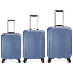 Set de 3 valises à roulettes BENZI BZ4872 / Bleu