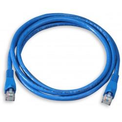 Câble RJ45 Cat 5E UTP 20M Bleu