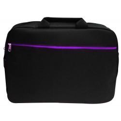 """Sacoche pour Pc Portable 15.6"""" / Noir & Violet"""