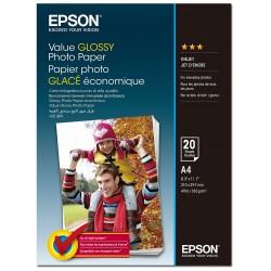 20x Papiers Photo glacé Epson Value Glossy A4 / 183 g/m²