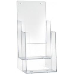 Porte Dépliants 2 compartiments A6 / Cristal