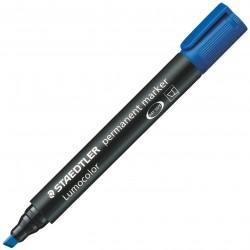 Marqueur permanent pointe biseautée STAEDTLER Lumocolor 350 / Bleu