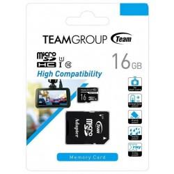 Carte mémoire TeamGroup Micro SDHC 16 Go Class10 pour Enregistreur Dashcam