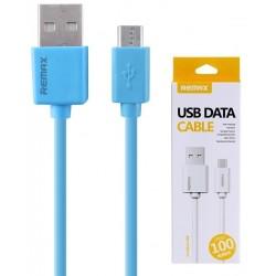 Câble Remax USB vers Micro USB / Bleu