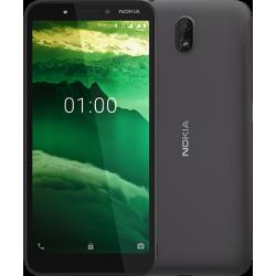 Téléphone Portable Nokia C1 / 3G / Double SIM / Noir + SIM Orange 40 Go