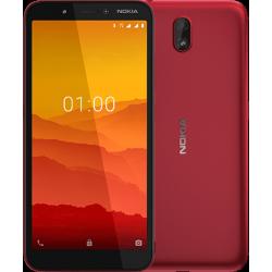 Téléphone Portable Nokia C1 / 3G / Double SIM / Rouge + SIM Orange 40 Go