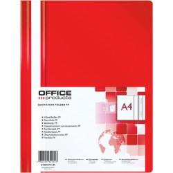 Chemise à lamelles OFFICE Products Polypropylène A4 100/170 / Rouge