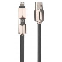 Câble MUJU MJ-38 2 en 1 USB...