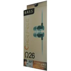 Ecouteur avec micro n26 / Bleu