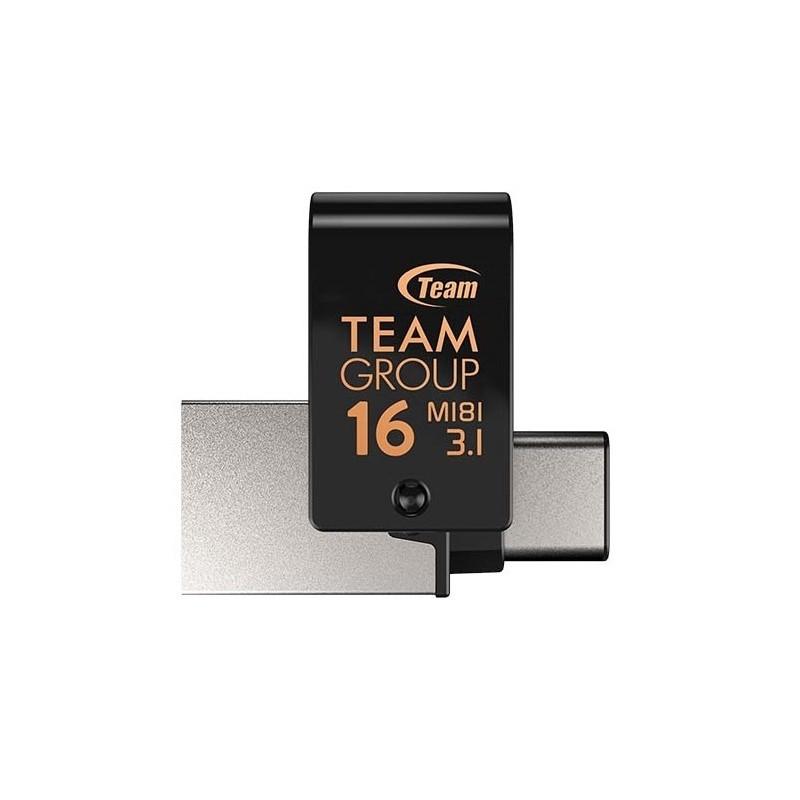 CLÉ USB OTG TYPE C TEAMGROUP M181 / 16 GO / USB 3.1