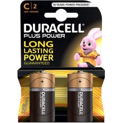2x Piles alcalines Duracell Plus Power Type C