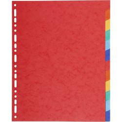 Intercalaire 12 Positions A4 Coloré Plastique