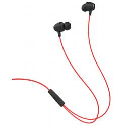 Ecouteur avec Micro Celebrat Fly 1 / Noir et Rouge
