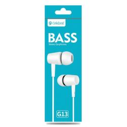 Ecouteur avec Micro Celebrat G13 / Blanc
