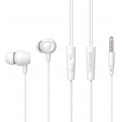 Ecouteur avec Micro Celebrat Fly 1 / Blanc