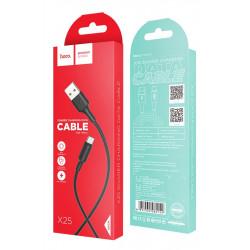 Câble USB Hoco X25 Pour Type-C Flash / Noir
