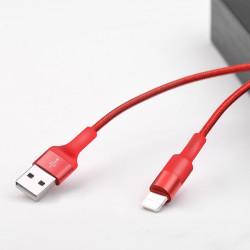 Câble USB Hoco X26 Pour IPHONE Flash / Rouge