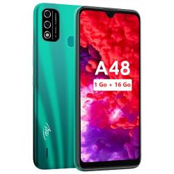 Téléphone portable Itel A48 / Double SIM / 1Go / 16Go / Vert