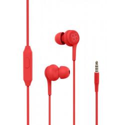 Écouteurs stéréo avec micro Promate Duet / Rouge