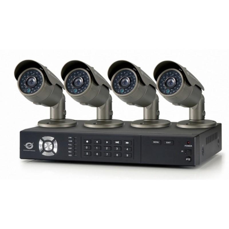 Kit De Surveillance Cctv 8 Canaux 4 Cameras 700tvl Conceptronic