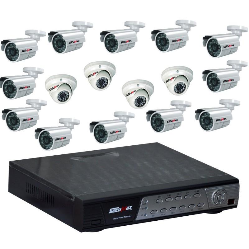 Kit De Surveillance Cctv 16 Canaux 16 Cameras Secumax