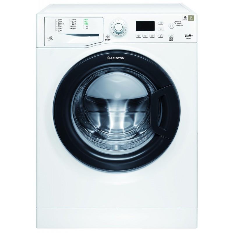 machine laver ariston futura 8 kg 1200trs avec afficheur blanche porte noir. Black Bedroom Furniture Sets. Home Design Ideas