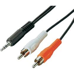 Câble Audio Jack vers 2 RCA 1,5M