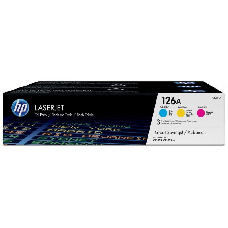Toner HP Laserjet 126A Pack 3 Couleurs