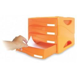 Bloc de 4 Tiroirs ARDA Smile / Orange