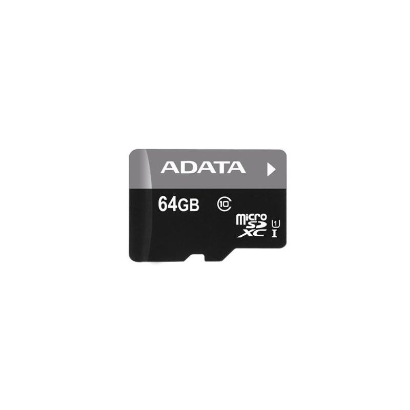 Carte mémoire Adata microSDXC 64 Go Class 10 + Adaptateur