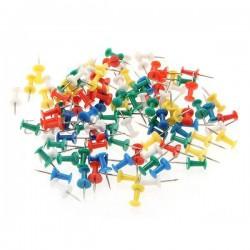 50 Punaises en Métal Plastique pour tableau liège