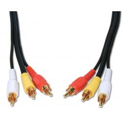 Câble 3 RCA vers 3 RCA 20M