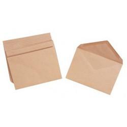 100x Enveloppes Marron 114 x 162 mm