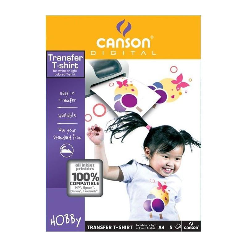 5x Papiers Transfert T-Shirt Canson A4