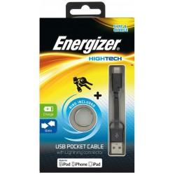 Câble de Poche USB Plat Lightning Charge / Data / Noir